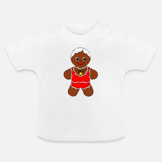 Christmas Baby Clothes - Christmas cookies gingerbread, gingerbread xmas - Baby T-Shirt white