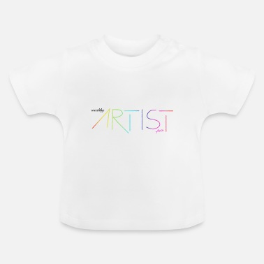 Wealthy wealthy artist - Rainbow / Colorful / Gift - Baby T-Shirt