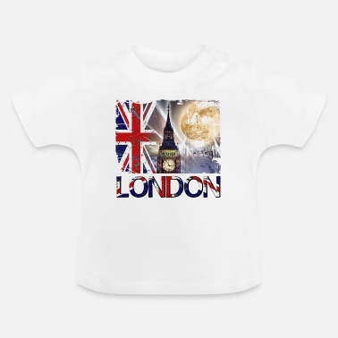 Tower Bridge London England UK Flagge Big Ben Tower Bridge - Baby T-Shirt