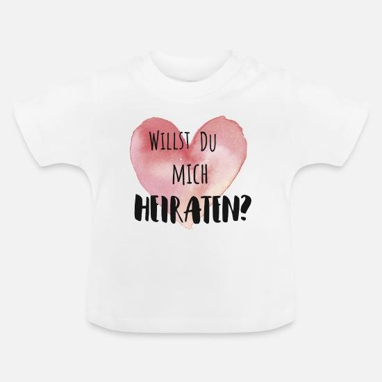 Baby T-shirt sort-Tu veux mon Papa se marier? Manches longues demande en mariage