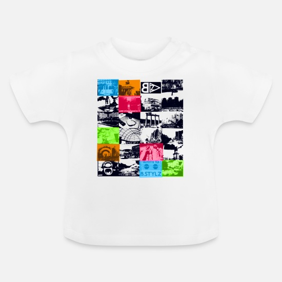Nature Baby Clothes - Urban Scenes 03 - Baby T-Shirt white