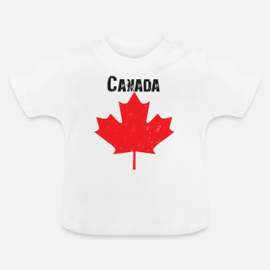 Grungy Grungy Maple leaf design - Baby T-Shirt