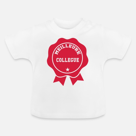 Society Baby Clothes - Best Colleague - Baby T-Shirt white