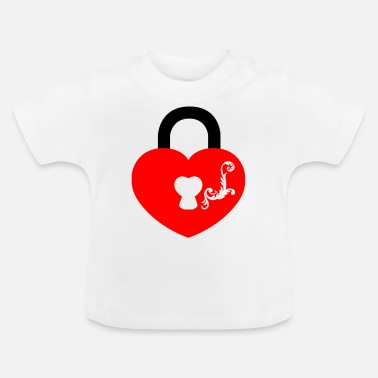 tribal_key_heart1 - Baby T-Shirt