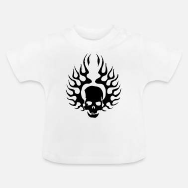 Burning Skull - Baby T-Shirt