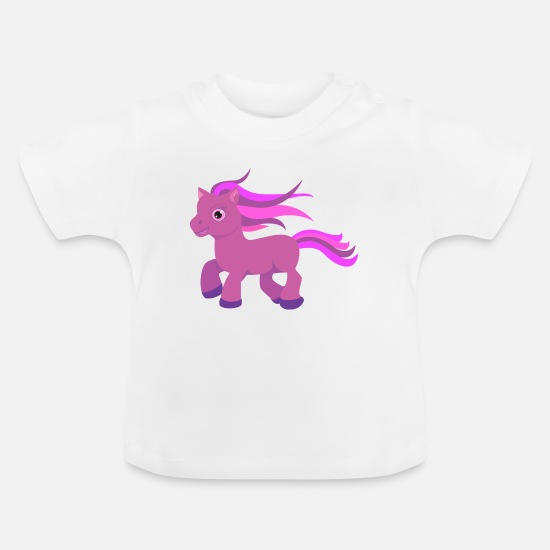 Children Baby Clothes - pony 1085439 - Baby T-Shirt white