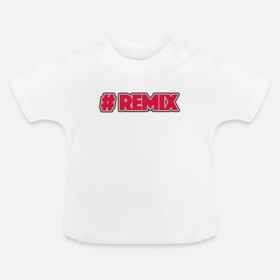 Bass Baby Clothes - Hashtag remix - Baby T-Shirt white