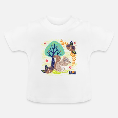 Officialbrands Animal Planet Too Cute Squirrel With Acorns - Baby T-Shirt