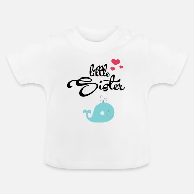 Wale Little Sister with Cute Wale - Baby T-Shirt