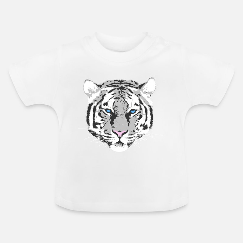 Tiger Baby Clothing - White Tiger - Baby T-Shirt white