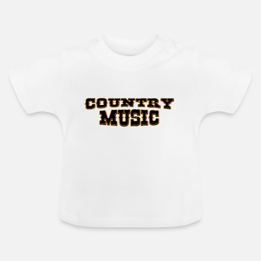 Country Music country music - Baby-T-skjorte