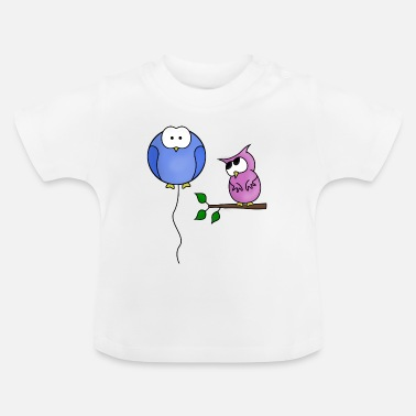 Baloon owl and baloon - Baby T-Shirt
