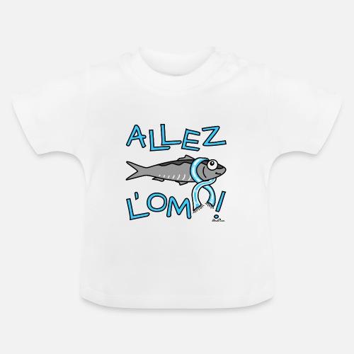 Sardine Supporter Marseille - Allez L OM T-shirt Bébé  027db082252