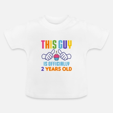 Birthday This Guy Officially 2 Years Old - Baby T-Shirt