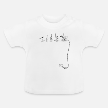 Microscope The Evolution of Microscope - Baby T-Shirt