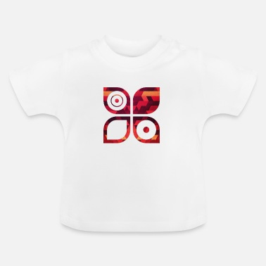 194123123ab Abstract minimal geometry Hipster Art (Red Gold) - Baby T-shirt