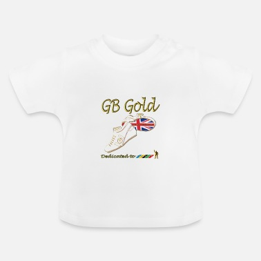 Sport great britain union jack gold_stripes - Baby T-Shirt