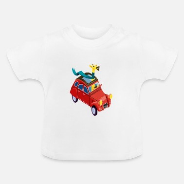 Giraffe in the car - Baby T-shirt