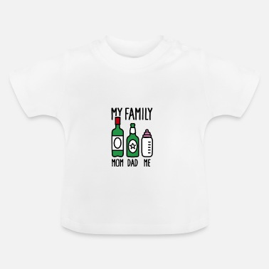 Son My family - mam dad me - T-shirt baby