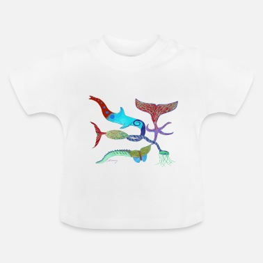 Jelly-fish  Mixture of Animals (light blue Dolphin) - Baby T-Shirt
