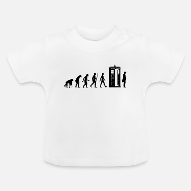 Matt Smith Evolution Tardis - Baby T-Shirt
