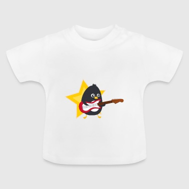 Linux Penguin playing guitare - Baby T-Shirt