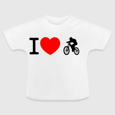 I love downhill - Baby T-Shirt