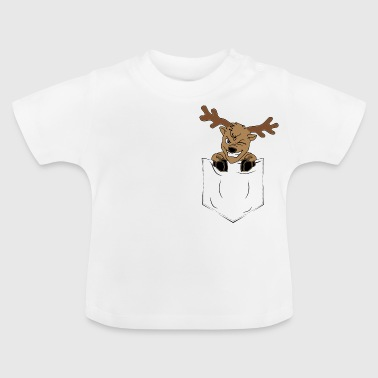Rendier Advent borstzak - Gift - Baby T-shirt