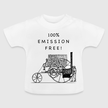 100% Emission Free Black on White - Baby T-shirt