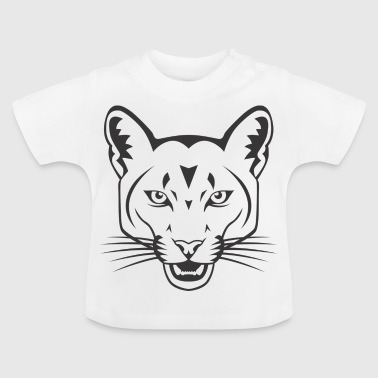 Panther black pink panther head - Baby T-Shirt
