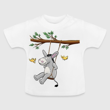 Donkey - Kuschelesel on swing - Baby T-Shirt