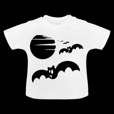 Flagermus i fuldmåne Creepy gave - Baby T-shirt
