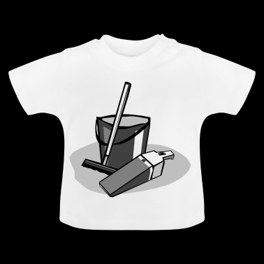 cleaning cleaning cleaning woman broom wischmop31 - Baby T-Shirt