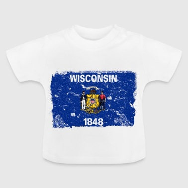 Wisconsin vintage flag - Baby T-Shirt
