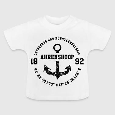 Baltic Sea resort and artists' colony Ahrenshoop black - Baby T-Shirt