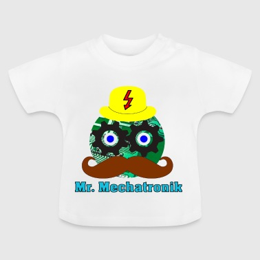 Mr. Mechatronics hoved og skrivning - Baby T-shirt