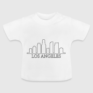 Skyline von Los Angeles - Baby T-Shirt