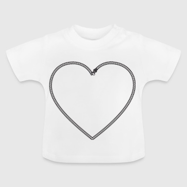 Zip Heart - Baby T-Shirt