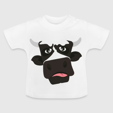 Cow hoved horn tungen - Baby T-shirt