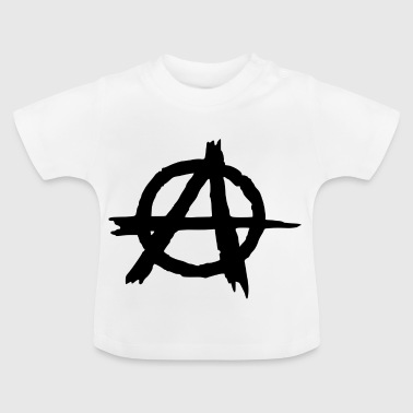 Anarchy logo, revolution, frihet - Baby-T-shirt