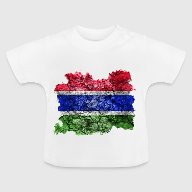 Gambia Vintage Flagge - Baby T-Shirt