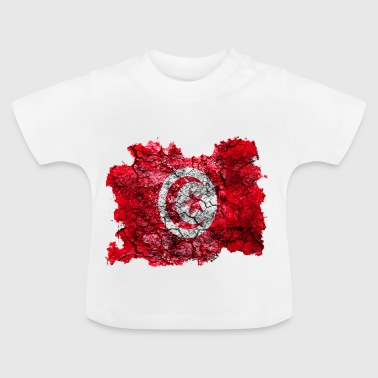 Tunesien Vintage Flagge - Baby T-Shirt