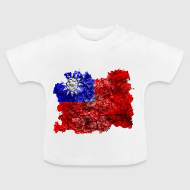 Taiwan (Chinesisches Taipei) Vintage Flagge - Baby T-Shirt