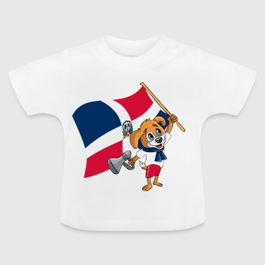 Dominikanische Republik Fan Hund - Baby T-Shirt