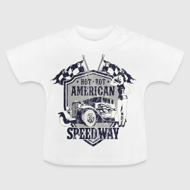 SPEEDWAY AMERICAN Hotrods - Hot Rod Gift - Baby-T-shirt