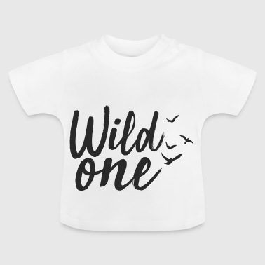 Wild One met vogels wild man - Baby T-shirt