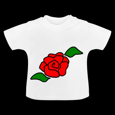 Rose rote Blume - Baby T-Shirt