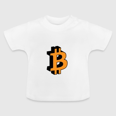 Bitcoin 3D Icon - T-shirt Bébé