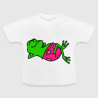 Animal shirt frog with pink swimming trunks basks - Baby T-Shirt