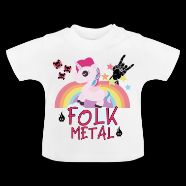 Gift Folk Metal Unicorn Rainbow Horse Party - Baby T-shirt
